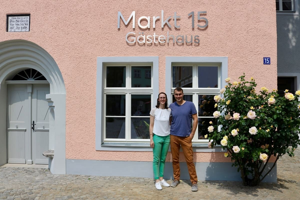 Markt 15 - Exterior with Rebecca and Martin